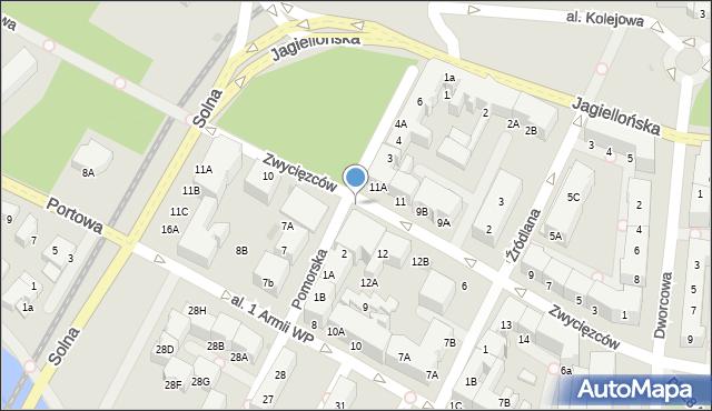 Kołobrzeg, Pomorska, 2k, mapa Kołobrzegu