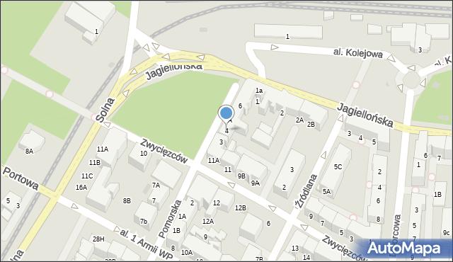 Kołobrzeg, Pomorska, 4, mapa Kołobrzegu