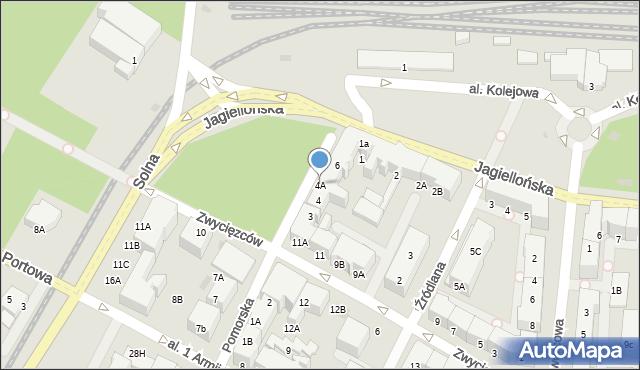 Kołobrzeg, Pomorska, 4A, mapa Kołobrzegu