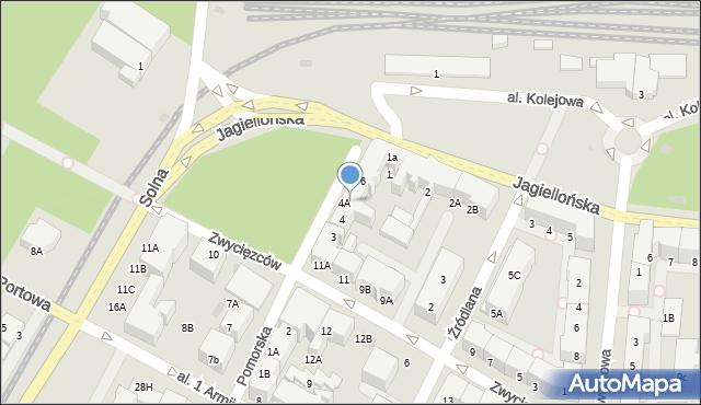 Kołobrzeg, Pomorska, 5, mapa Kołobrzegu