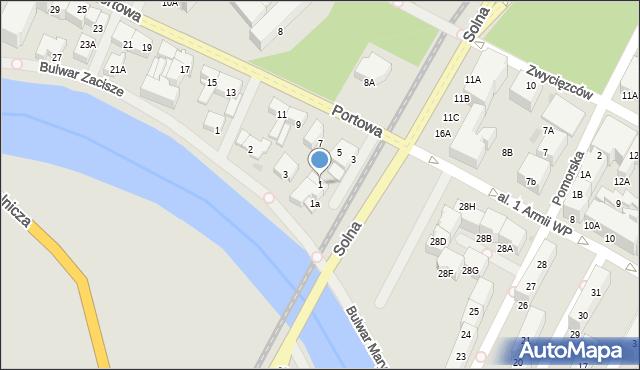 Kołobrzeg, Portowa, 1, mapa Kołobrzegu
