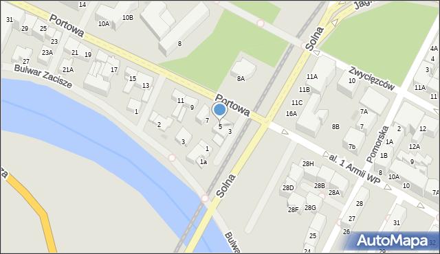Kołobrzeg, Portowa, 5, mapa Kołobrzegu