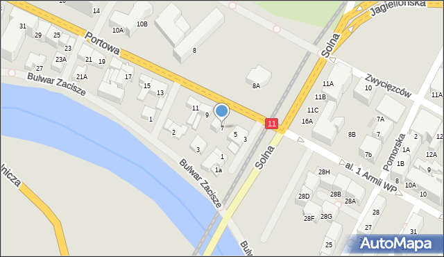 Kołobrzeg, Portowa, 7, mapa Kołobrzegu
