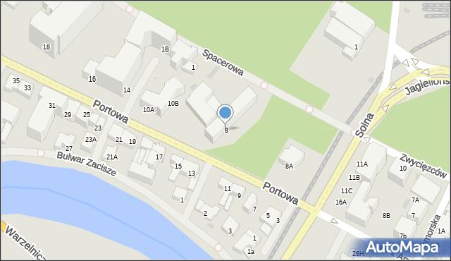 Kołobrzeg, Portowa, 8, mapa Kołobrzegu