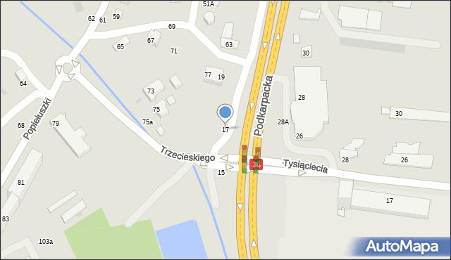 Krosno, Podkarpacka, 17, mapa Krosna