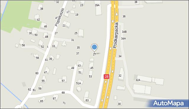 Krosno, Podkarpacka, 27, mapa Krosna