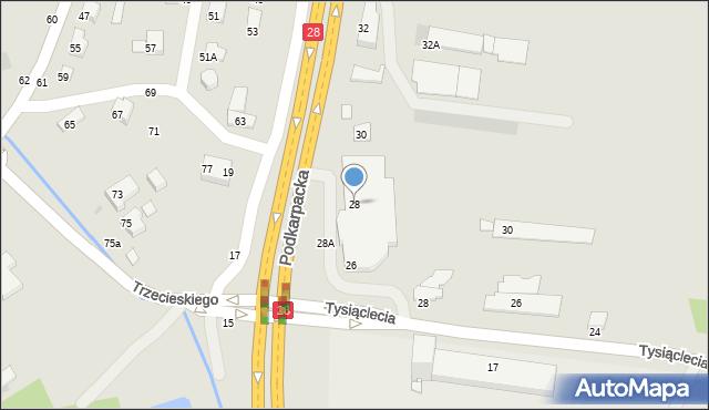 Krosno, Podkarpacka, 28, mapa Krosna