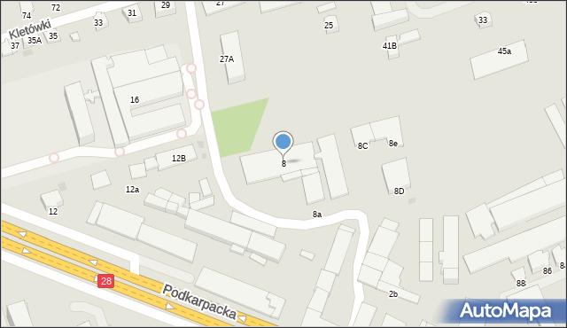 Krosno, Podkarpacka, 8, mapa Krosna