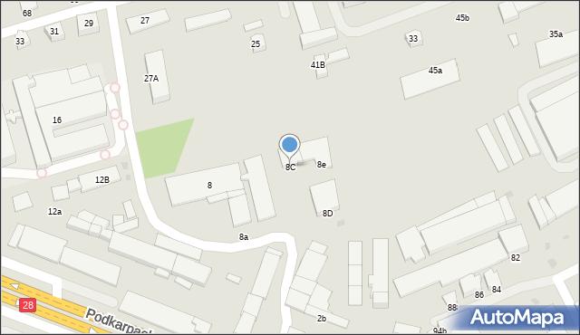 Krosno, Podkarpacka, 8C, mapa Krosna