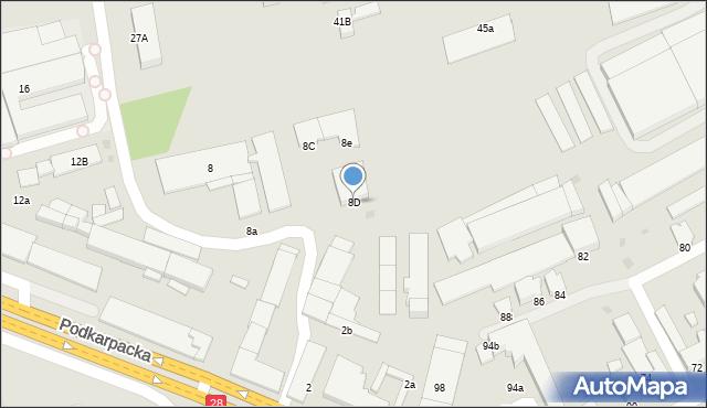Krosno, Podkarpacka, 8D, mapa Krosna