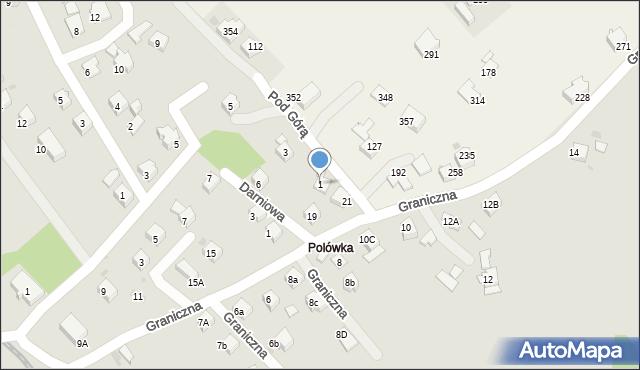 Limanowa, Pod Górą, 1, mapa Limanowa