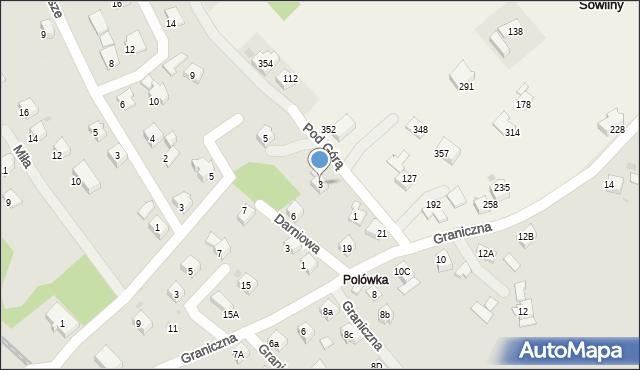 Limanowa, Pod Górą, 3, mapa Limanowa