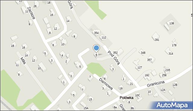 Limanowa, Pod Górą, 5, mapa Limanowa