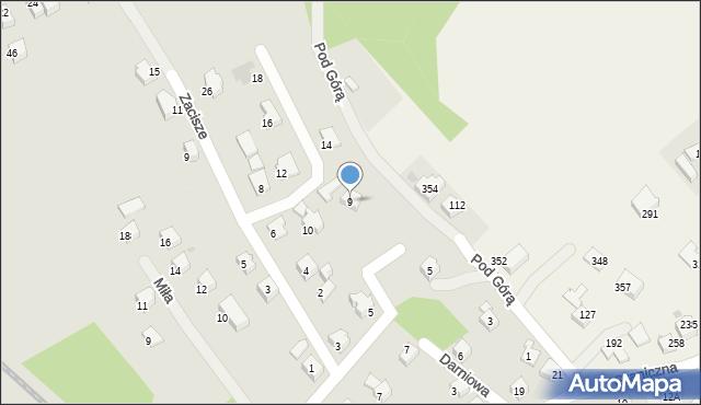 Limanowa, Pod Górą, 9, mapa Limanowa