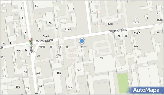 Łódź, Pomorska, 73, mapa Łodzi