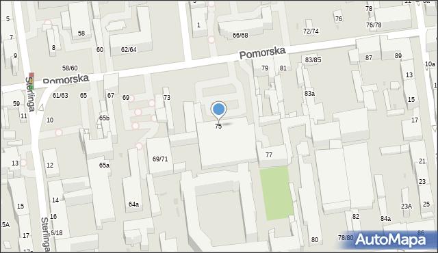 Łódź, Pomorska, 75, mapa Łodzi