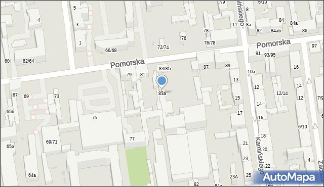 Łódź, Pomorska, 83a, mapa Łodzi