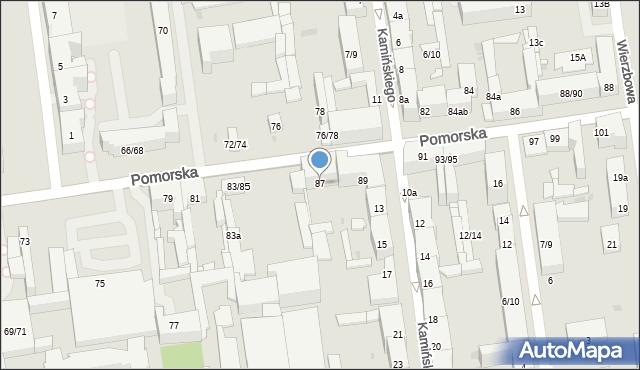 Łódź, Pomorska, 87, mapa Łodzi