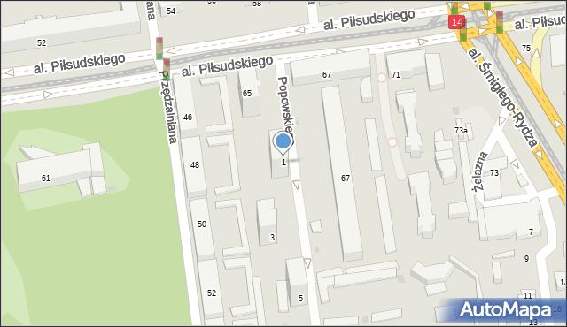 Łódź, Popowskiego Stanisława, 1, mapa Łodzi
