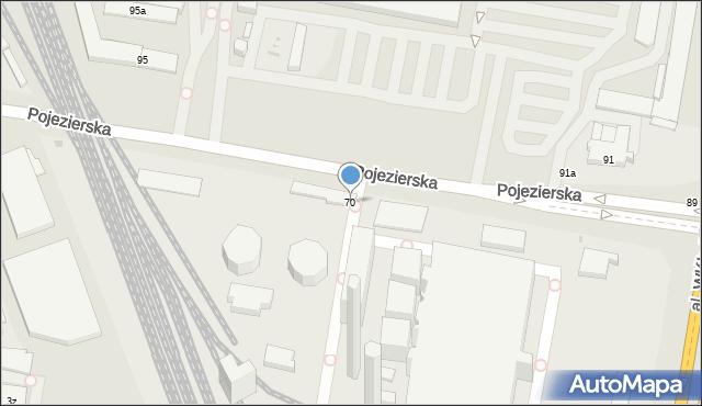 Łódź, Pojezierska, 70, mapa Łodzi