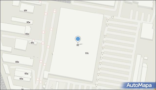 Łódź, Pojezierska, 93, mapa Łodzi