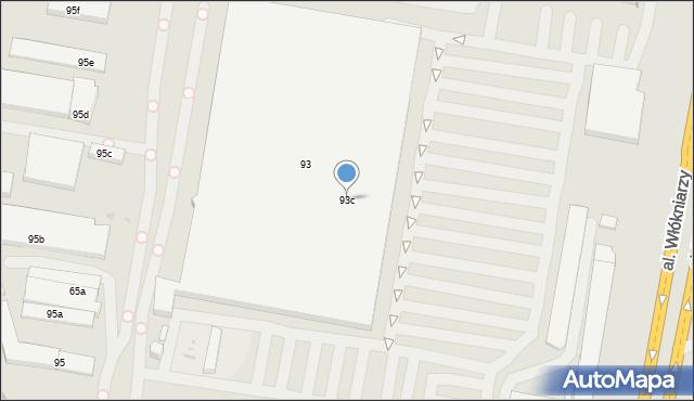 Łódź, Pojezierska, 93c, mapa Łodzi