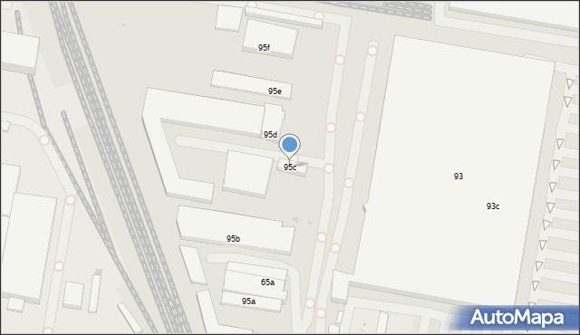 Łódź, Pojezierska, 95c, mapa Łodzi
