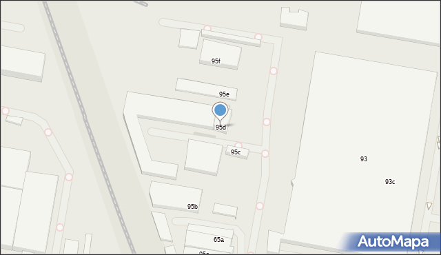 Łódź, Pojezierska, 95d, mapa Łodzi