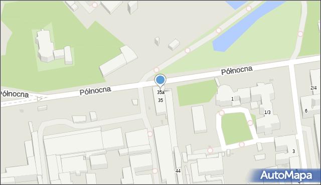 Łódź, Północna, 35a, mapa Łodzi