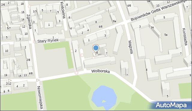 Łódź, Podrzeczna, 9A, mapa Łodzi