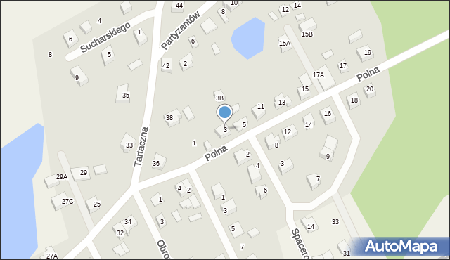 Luzino, Polna, 3, mapa Luzino