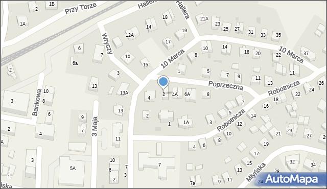 Luzino, Poprzeczna, 2, mapa Luzino