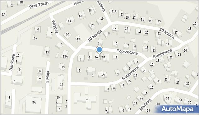 Luzino, Poprzeczna, 4B, mapa Luzino