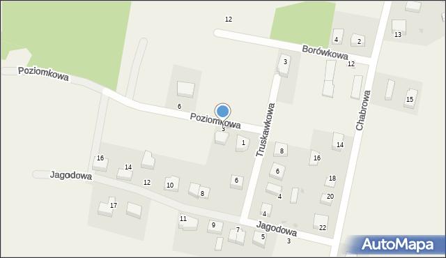 Luzino, Poziomkowa, 3, mapa Luzino