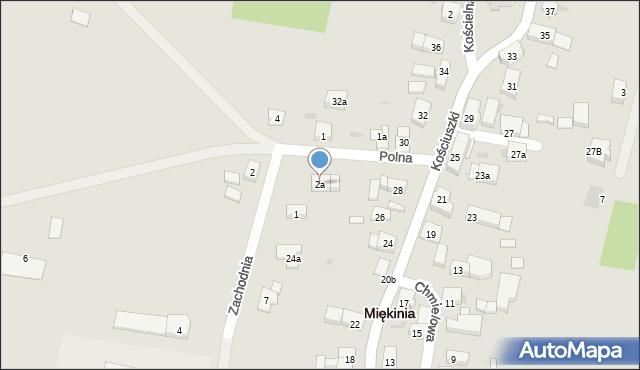 Miękinia, Polna, 2a, mapa Miękinia