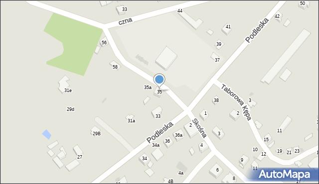 Mikołów, Podleska, 35, mapa Mikołów