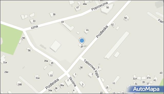 Mikołów, Podleska, 37, mapa Mikołów