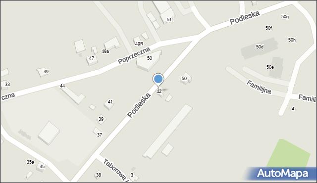 Mikołów, Podleska, 42, mapa Mikołów