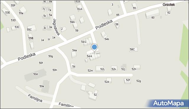 Mikołów, Podleska, 54/6, mapa Mikołów
