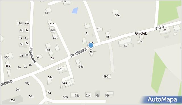Mikołów, Podleska, 56, mapa Mikołów