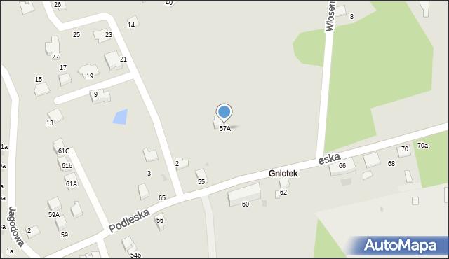 Mikołów, Podleska, 57A, mapa Mikołów