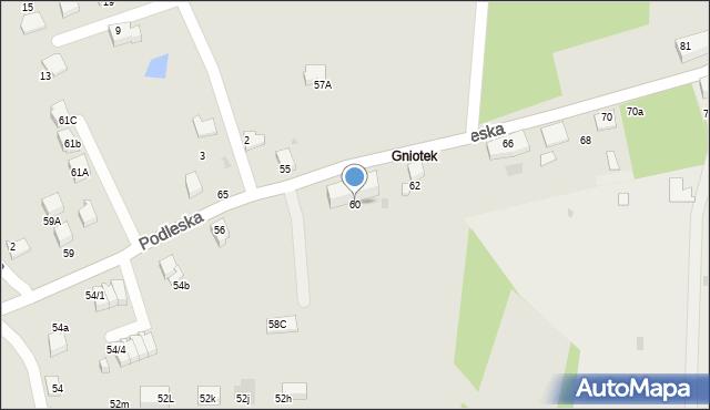 Mikołów, Podleska, 60, mapa Mikołów