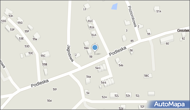Mikołów, Podleska, 61, mapa Mikołów