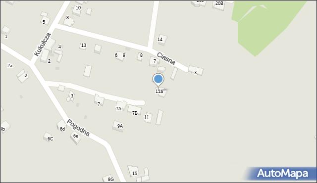 Mikołów, Pogodna, 11a, mapa Mikołów