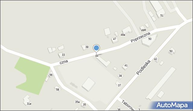 Mikołów, Poprzeczna, 44, mapa Mikołów
