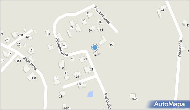 Mikołów, Poziomkowa, 14, mapa Mikołów