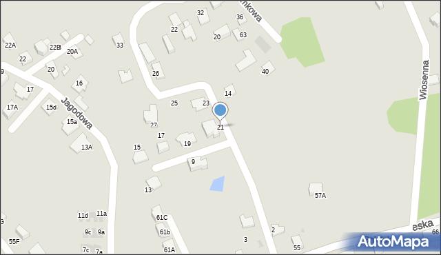 Mikołów, Poziomkowa, 21, mapa Mikołów