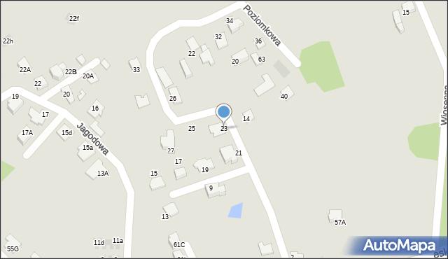 Mikołów, Poziomkowa, 23, mapa Mikołów