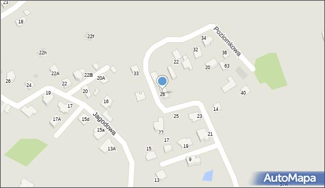 Mikołów, Poziomkowa, 26, mapa Mikołów
