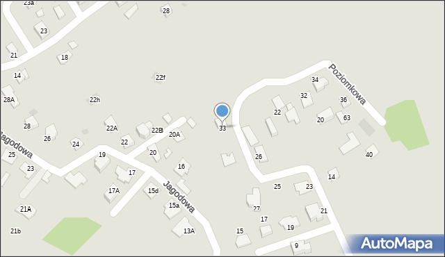 Mikołów, Poziomkowa, 33, mapa Mikołów